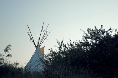 Tipi sunset